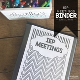 IEP Meetings Binder for the Year (Black & White) | Special Education