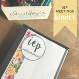 IEP Meetings for the Year (Florals) | Special Education Binder