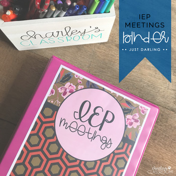 IEP Meetings for the Year (Just Darling) | Special Education Binder