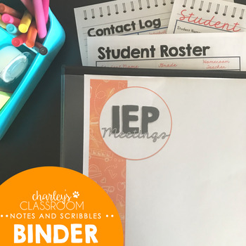 IEP Meetings for the Year (Notes & Scribbles) | Special Education IEP Binder