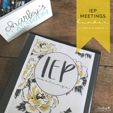 IEP Meetings for the Year (Pretty & Simple) | Special Education Binder