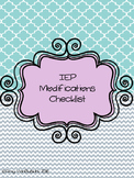 IEP Modification Checklist
