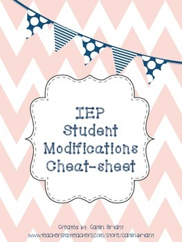 IEP Modifications Cheat-Sheet