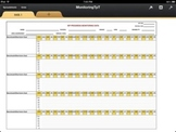 IEP Monitoring Form with Automatic Graph (iPad Numbers Version)