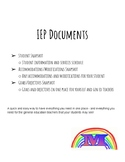 IEP Organization Documents
