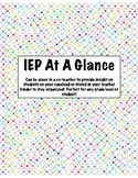 IEP Organization-IEP At A Glance