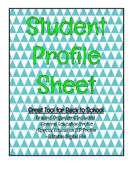 Student Profile Sheet & IEP Snapshot