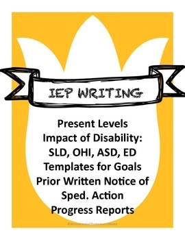 Back to School! IEP Writing: Present Levels Statements, Goals and Prior Notices