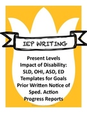 Back to School! IEP Writing: Present Levels Statements, Go