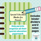 IEP Parent Binder