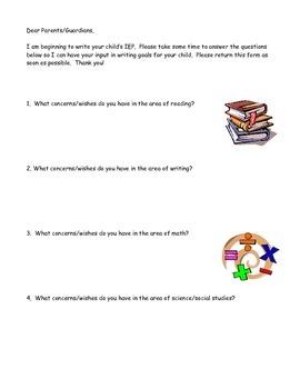IEP Parent Collaboration Letter