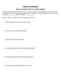 IEP Parent Input Questionnaire