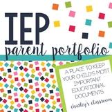 IEP Parent Portfolio | Special Education Binder for Parents