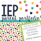 IEP Parent Portfolio  Special Education Binder for Parents