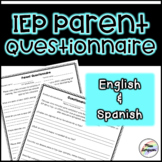 IEP Parent Questionnaire (English&Spanish) *Distance Learning*