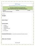 IEP Parent & Teacher Input Forms
