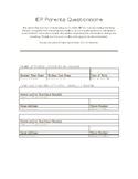 IEP Parents Questionnaire (English/Spanish)