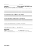IEP Planning form for teachers