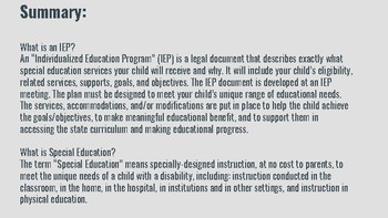IEP Powerpoint Presentation