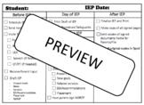IEP Preparation Checklist