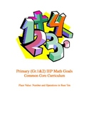 IEP Primary Math Goals Place Value: Number and Operations