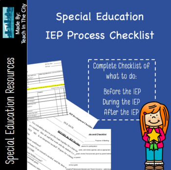 IEP Process Checklist - Make sure you don't forget anything!