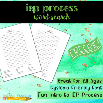 IEP Process Word Search