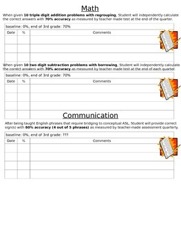IEP Progress Check Forms- Editable