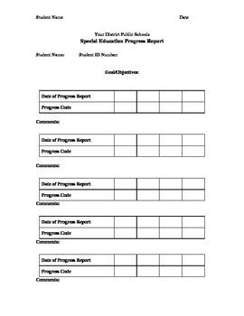 IEP Progress Report