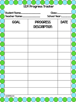 IEP Progress Tracker