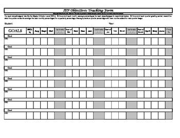 IEP Progress Tracking Form