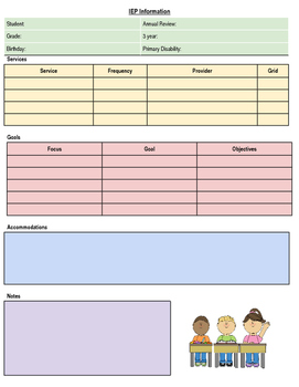 IEP Quick Reference Sheet