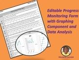 IEP/RTI Progress Monitoring with Graph/Data Analysis Secti