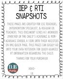 IEP & RTI Snapshot