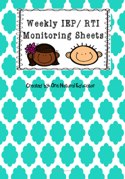 IEP/ RTI Weekly Recording Sheet