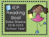 IEP Reading Goal Data Sheets