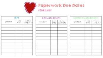 IEP, Reevaluation, & Evaluation Due Dates