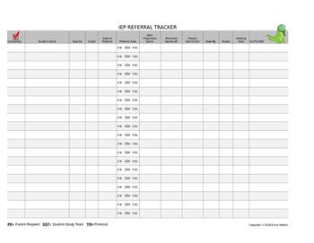 IEP Referral Tracker {Editable!}