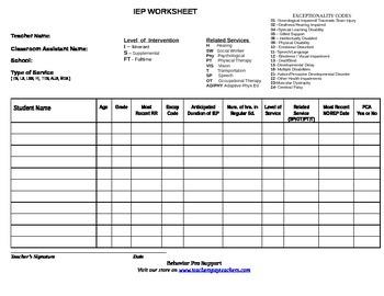 IEP Roster Organizer