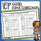 IEP STUDENT GOAL OBJECTIVE TRACKING DATA COLLECTION RECORDING PAGE