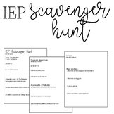 IEP Scavenger Hunt | IEP Student Reflection