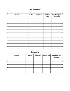 IEP Schedule