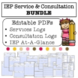 IEP Service AND Consultation Log BUNDLE- Everything in Fillable PDF Format