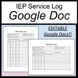 IEP Service Log [Special Education Service Log] [Distance