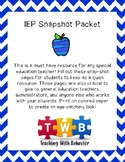 IEP SnapShot Packet