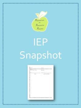 IEP Snapshot