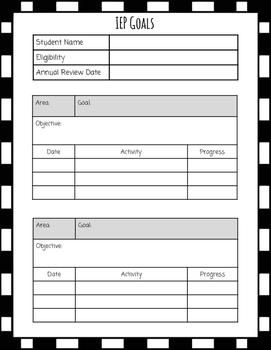 IEP Snapshot Forms