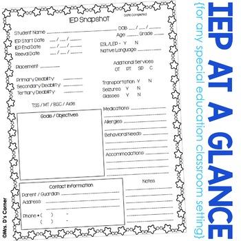 IEP Snapshot - IEP at a Glance - IEP Data Sheet