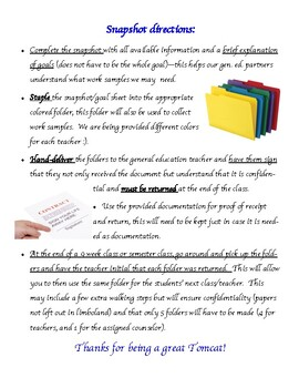 IEP Snapshot (IEP at a glance for teachers)