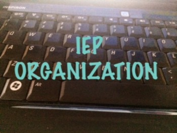 IEP Student Accommodations and Goals Organization Chart